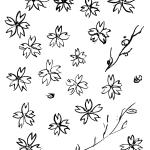 和風イラスト:桜パーツ