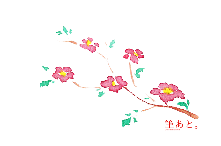 小さめの日本風の花素材